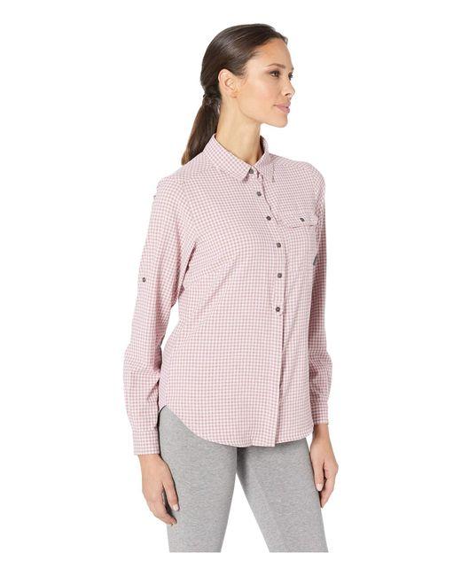 97b5e02159e ... Columbia - Purple Bryce Canyon Stretch Long Sleeve Shirt (antique Mauve  Gingham) Women's Long