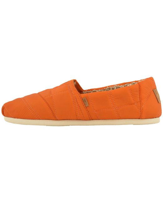 966fb9c9989 TOMS - Orange Venice Collection Alpargata (black Heritage Canvas On Crepe)  Men s Slip On ..