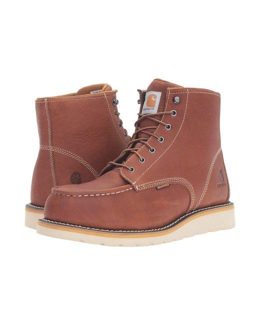 dc2b2b23ec0b Carhartt - Gray 6-inch Steel Toe Waterproof Wedge Boot (tan Oil Tanned  Leather ...