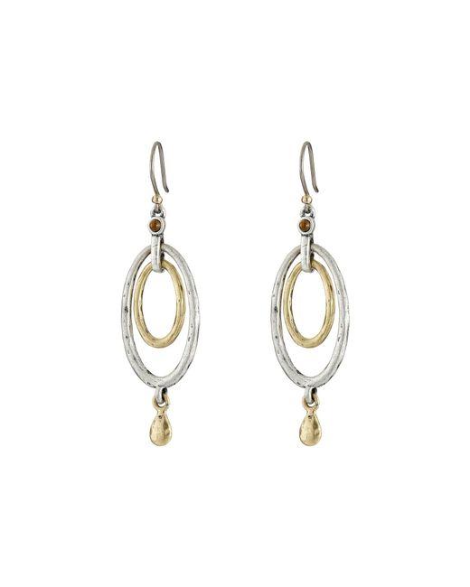 Lucky Brand - Metallic Mary Jane Oval Orbital Earrings (two Tone) Earring - Lyst