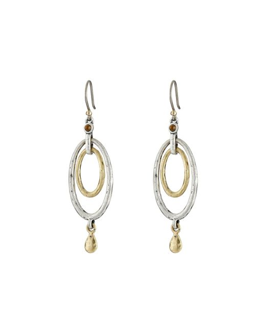 Lucky Brand - Metallic Mary Jane Oval Orbital Earrings - Lyst