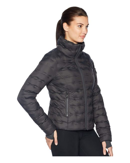 8c97bbecd6d ... The North Face - Gray Holladown Crop Jacket (tnf White) Women s Coat ...