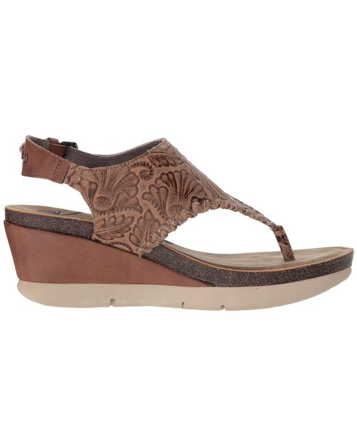 f24a9d75ab3 Lyst - Otbt Meditate (gold) Women s Sandals in Brown