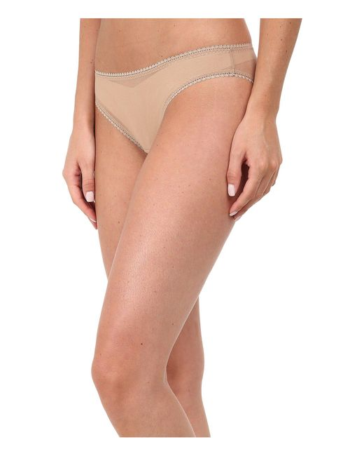 On Gossamer - Brown Solid Gossamer Mesh Hip Bikini 3202 - Lyst