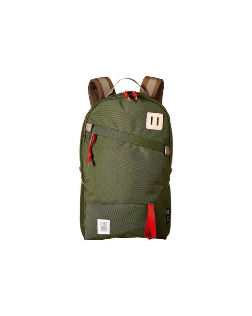 Topo Designs - Green Daypack (red/khaki Leather) Backpack Bags for Men - Lyst