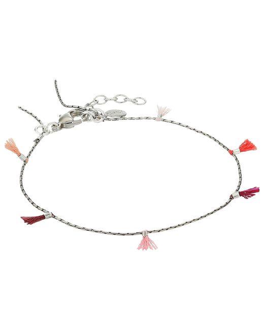 Shashi - Metallic Lilu Chain Tassel Bracelet (white/gold/multicolored Tassels) Bracelet - Lyst
