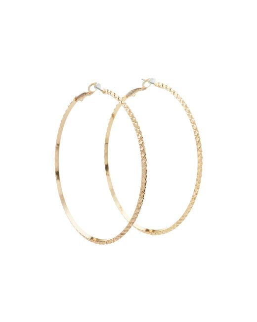 Guess - Metallic Diamond Cut Hoop Earring - Lyst