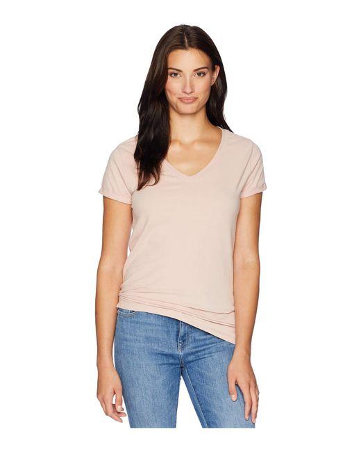 Dylan By True Grit - Pink Effortless Short Sleeve V Tee (denim) Women's T Shirt - Lyst