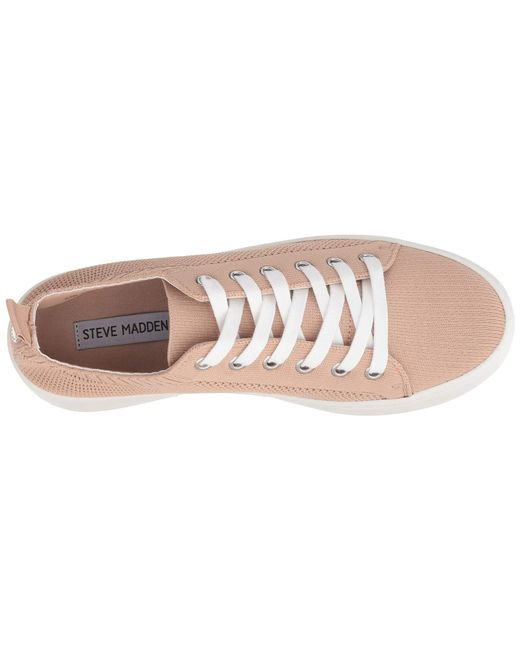 eb85658a628 ... Steve Madden - Pink Bardo Sneaker (grey) Women s Lace Up Casual Shoes  ...