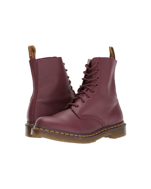 Dr. Martens - Red Pascal 8-Eye Leather Ankle Boots - Lyst