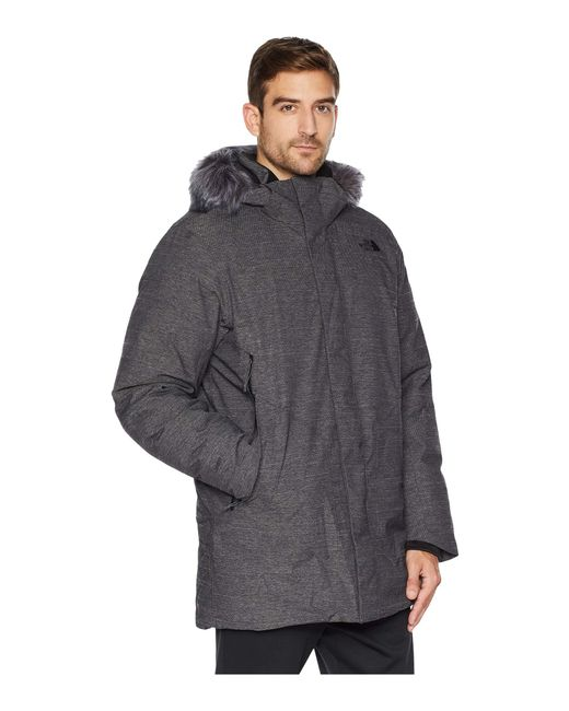 fa71bfa5cd67f ... The North Face - Gray Defdown Parka Gtx (urban Navy) Men s Coat for Men  ...