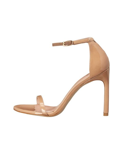 8fb72a5c4fc ... Lyst Stuart Weitzman - Natural  nudist Song  Ankle Strap Patent Leather  Sandals ...