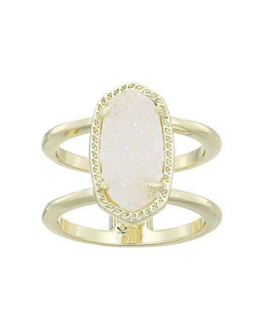 Kendra Scott - Multicolor Elyse Ring (rose Gold/iridescent Drusy) Ring - Lyst