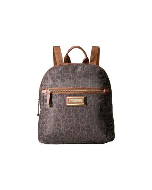 Calvin Klein - Belfast Dressy Nylon Backpack (brown/khaki Photoprint) Backpack Bags - Lyst