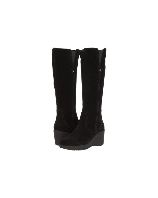 Lyst La Canadienne Grace Black Suede Women S Boots In