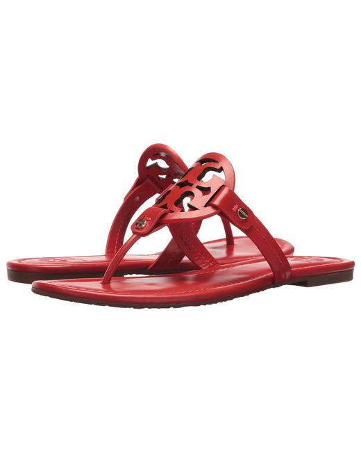 Lyst - Tory Burch Miller Flip Flop Sandal Light Makeup Womens Shoes In Red - Save 40 -8326