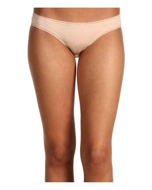 On Gossamer - Multicolor Cabana Cotton Hip Bikini 1402 (white) Women's Underwear - Lyst