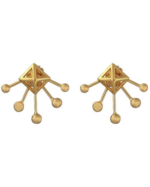 Rebecca Minkoff - Metallic Pyramid Fan Stud Earrings - Lyst