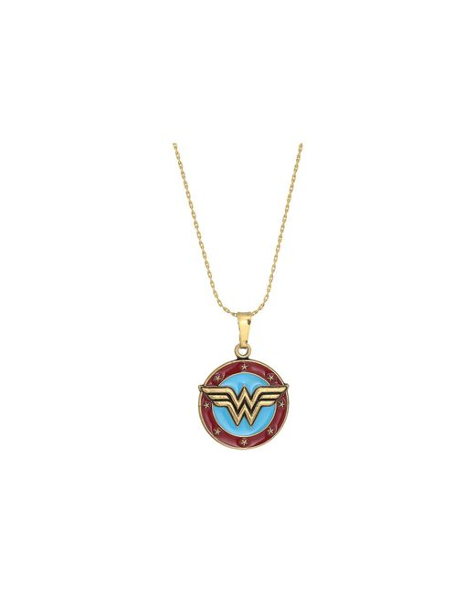 ALEX AND ANI - Metallic Wonder Woman Logo Expandable Necklace (rafaelian Gold) Necklace - Lyst
