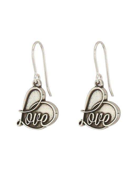 ALEX AND ANI - Metallic Love Hook Earrings (rafaelian Silver) Earring - Lyst