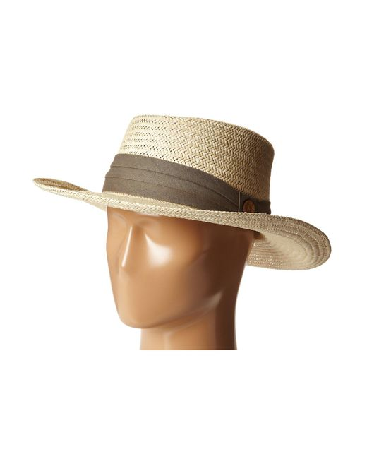Tommy Bahama - Natural Palm Fiber Gambler With 3 Pleat Cotton Band for Men - Lyst