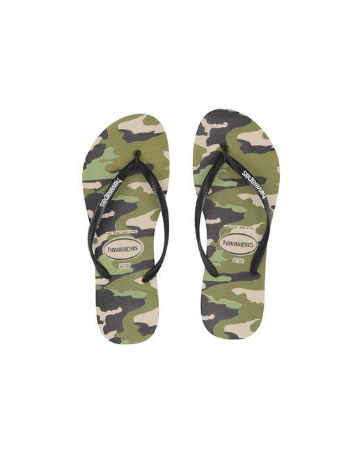648173f1 Havaianas Slim Camo Sandal (beige/black) Women's Sandals in Natural ...