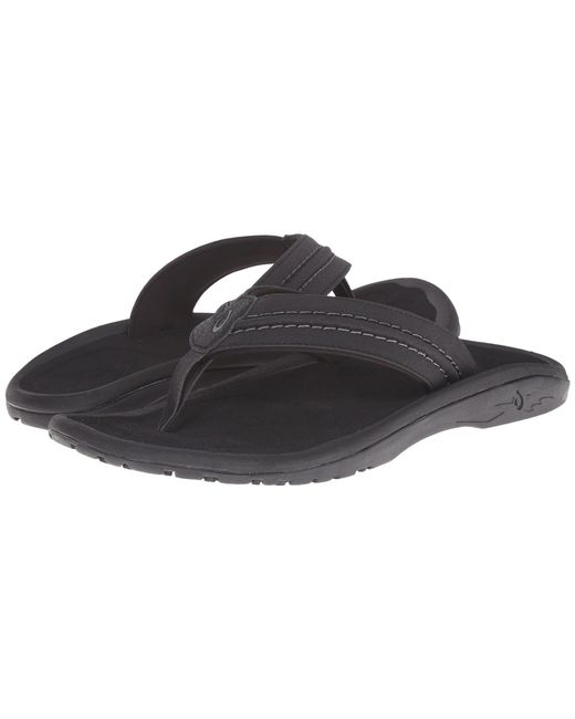 Olukai - Black Hokua (dark Java) Men's Sandals for Men - Lyst