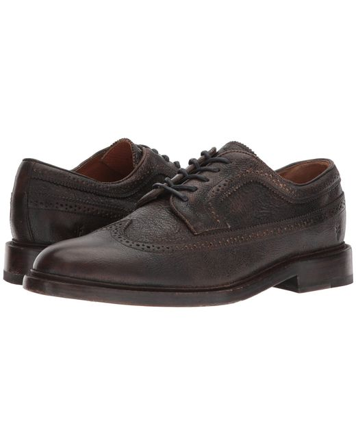 Frye - Brown Jones Wingtip (caramel Tumbled Veg Tan) Men's Lace Up Wing Tip Shoes for Men - Lyst