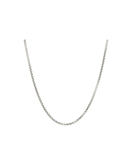 John Hardy - Metallic 2.6mm Box Chain Necklace Size 22 (silver) Necklace for Men - Lyst
