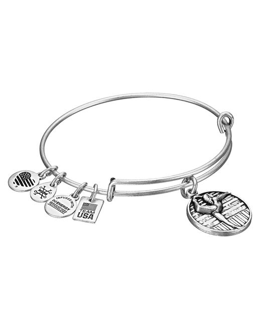 ALEX AND ANI | Metallic Team Usa Gymnastics Bangle | Lyst