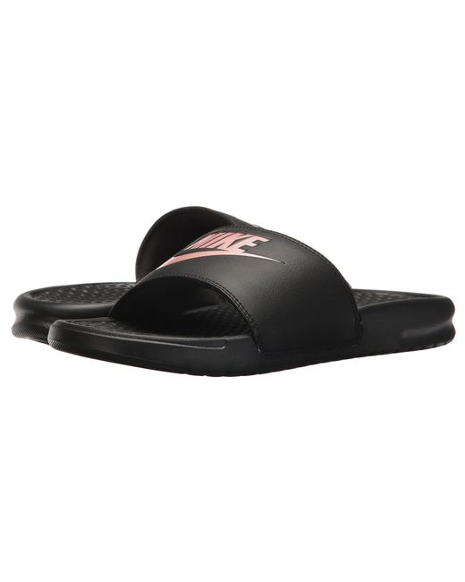 6e3a594ef284 Lyst - Nike Benassi Jdi Slide (black white) Women s Sandals in Black