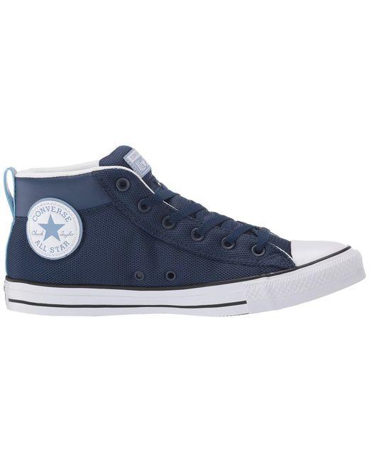 ... Converse - Blue Chuck Taylor(r) All Star(r) Street Uniform Mid ... 4f8a403d6