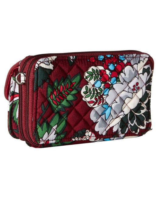 0b5f55e4a8cd ... Vera Bradley - Red Iconic Rfid All-in-one Crossbody (bordeaux Blooms)  ...