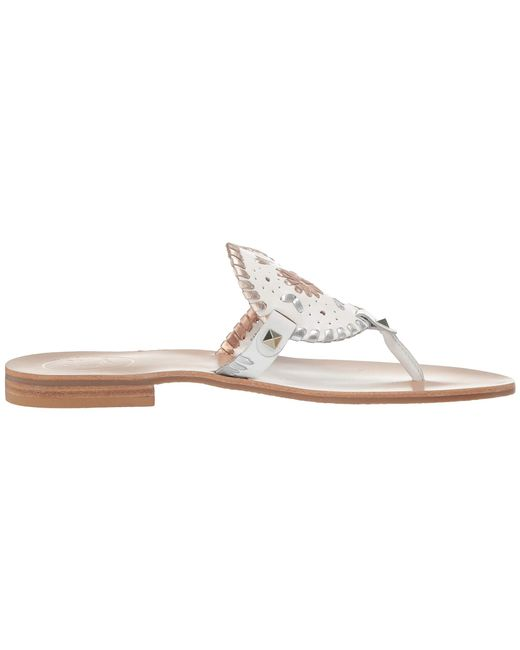 288d69aa4269 ... Lyst Jack Rogers - Multicolor Georgica Sandal (white Metallic) Women s  Sandals ...