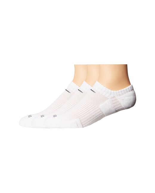 Nike - White Dri-fit Cushion No Show 3 Pack (multi-color) No Show Socks Shoes for Men - Lyst