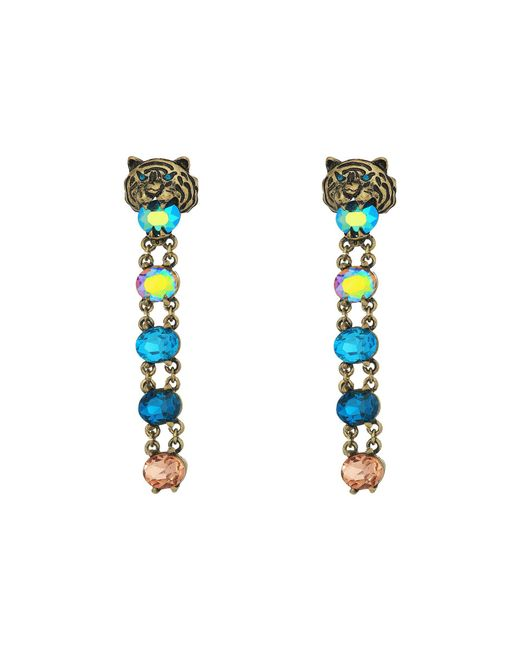 Betsey Johnson | Multicolor And Gold Tiger Linear Clip Earrings | Lyst