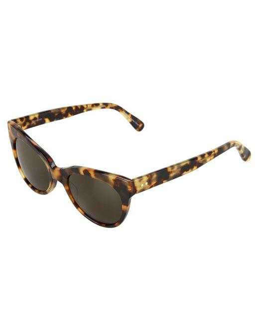 Kamalikulture - Brown Square Cat Eye Sunglasses - Lyst