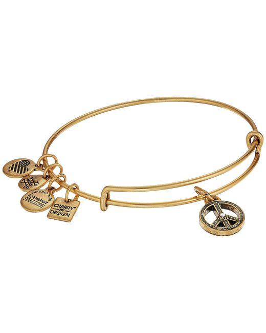 ALEX AND ANI - Metallic Charity By Design Unicef Peace Bangle (rafaelian Silver) Bracelet - Lyst