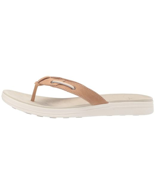 b4b30bdf19a8 ... Sperry Top-Sider - Multicolor Adriatic Thong Skip Lace Leather  (platinum) Women s Sandals ...