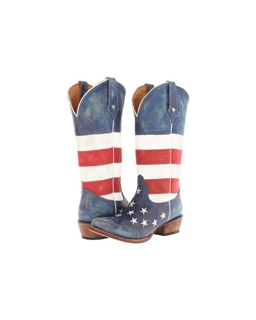 Roper - American Flag Snip Toe (red/white/blue) Cowboy Boots - Lyst