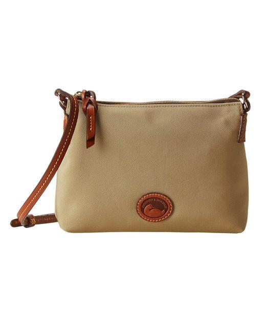 Dooney & Bourke - Natural In Nylon New Slgs Styles Crossbody Pouchette (black W/ Tan Trim) Cross Body Handbags - Lyst