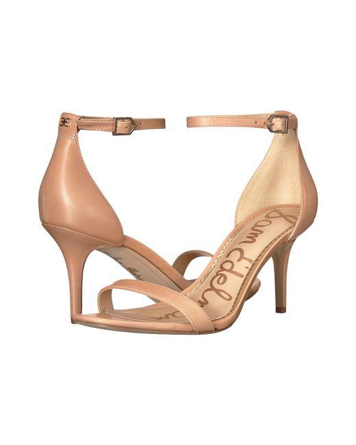Sam Edelman - Natural Patti Strappy Sandal Heel (rose Gold Liquid Metallic) High Heels - Lyst