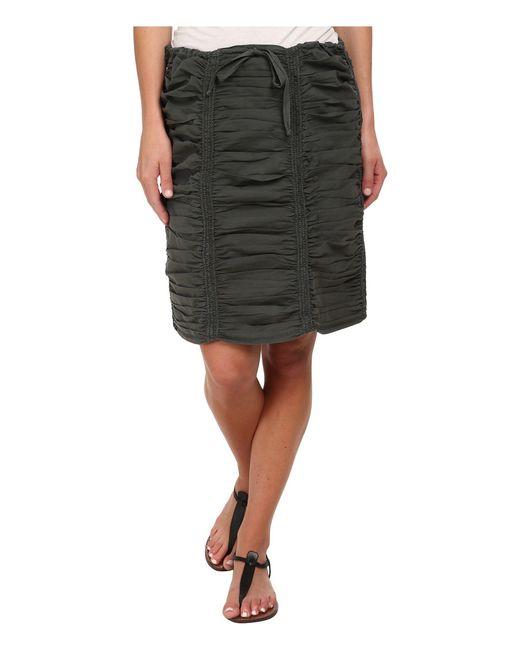XCVI - Black Double Shirred Panel Knee Length Skirt - Lyst