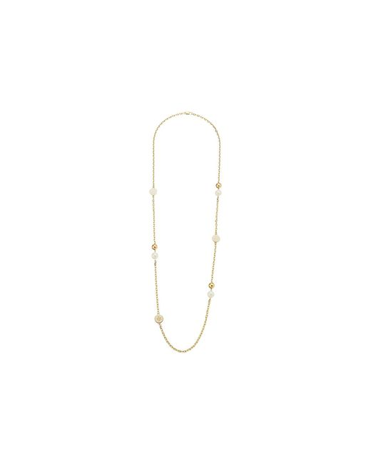 Tory Burch | Blue Lacquered Logo Rosary Necklace | Lyst