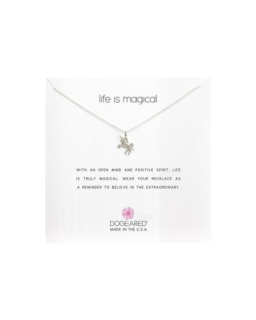 Dogeared - Metallic Life Is Magial Unicorn Reminder Necklace - Lyst