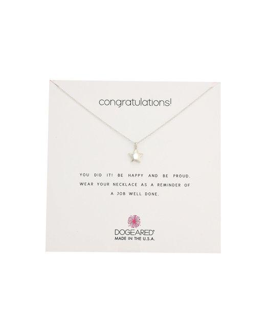 Dogeared | Metallic Congratulations, Full Star Necklace | Lyst