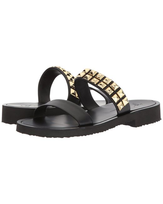 Cheap Sale Cost Free Shipping Brand New Unisex Black Gomzak Sandals Giuseppe Zanotti SljGOrG