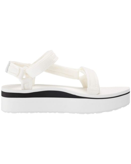 267388e68ed0 ... Teva - Flatform Universal Mesh Print (bright White) Women s Shoes ...