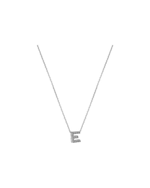 Roberto Coin - Metallic Diamond Initial Necklace (white Gold-e) Necklace - Lyst