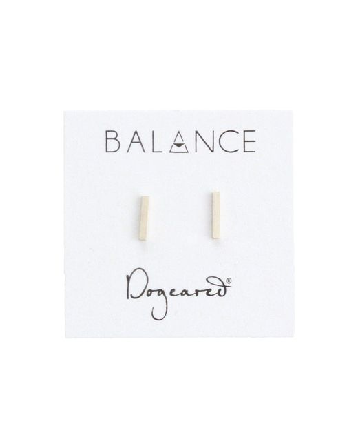 Dogeared - Metallic Balance Flat Bar Stud Earrings - Lyst